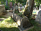 Vilnius, Kalvarijos Church, churchyard, really old grave