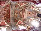 Vilnius, Kalvarijos Church, front ceiling paintings