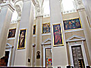 Vilnius Cathedral, left side paintings