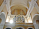 Vilnius, St. Casimir's Church, cream-colour organ