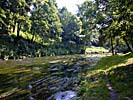 Vilnius, the city park and river Vilnele