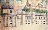 Vilnius, royal palace, drawing