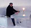 Testing the ice bar