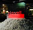 Novell's logotype in ice